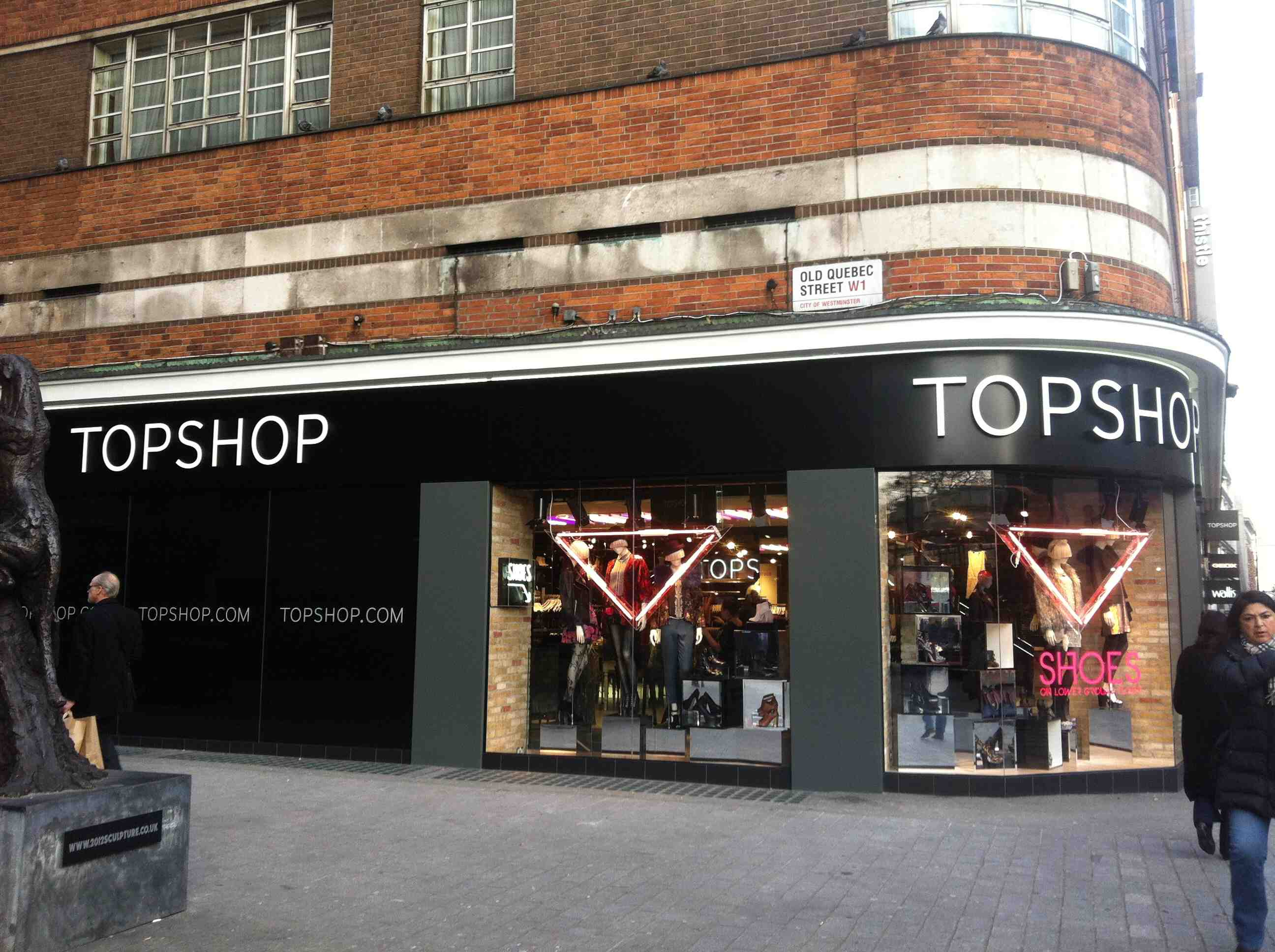 Bons plans shopping à LONDRES TOP SHOP OXFORD STREET