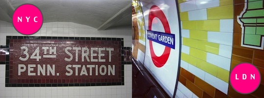 LONDON VS NEW YORK UNDERGROUND