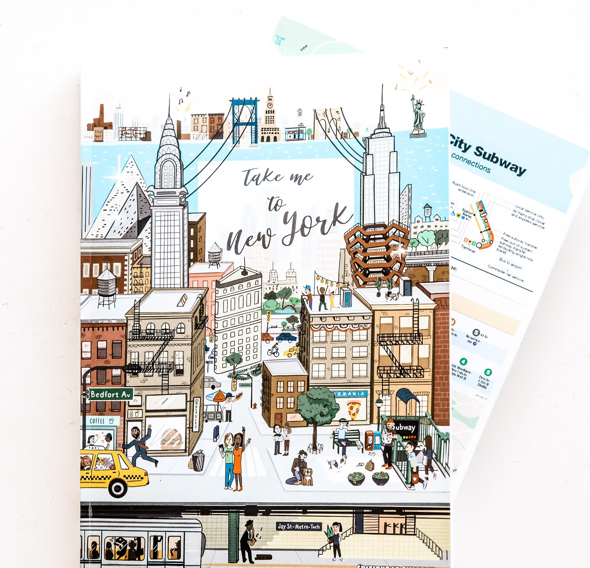 couverture carte guide take me to New York