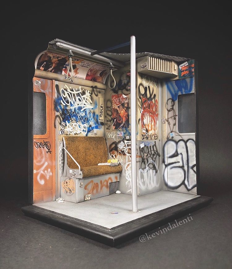 Kevin-dalenti-diorama-new-york-subway Kevin Dalenti, ses incroyables réalisations miniatures de New York