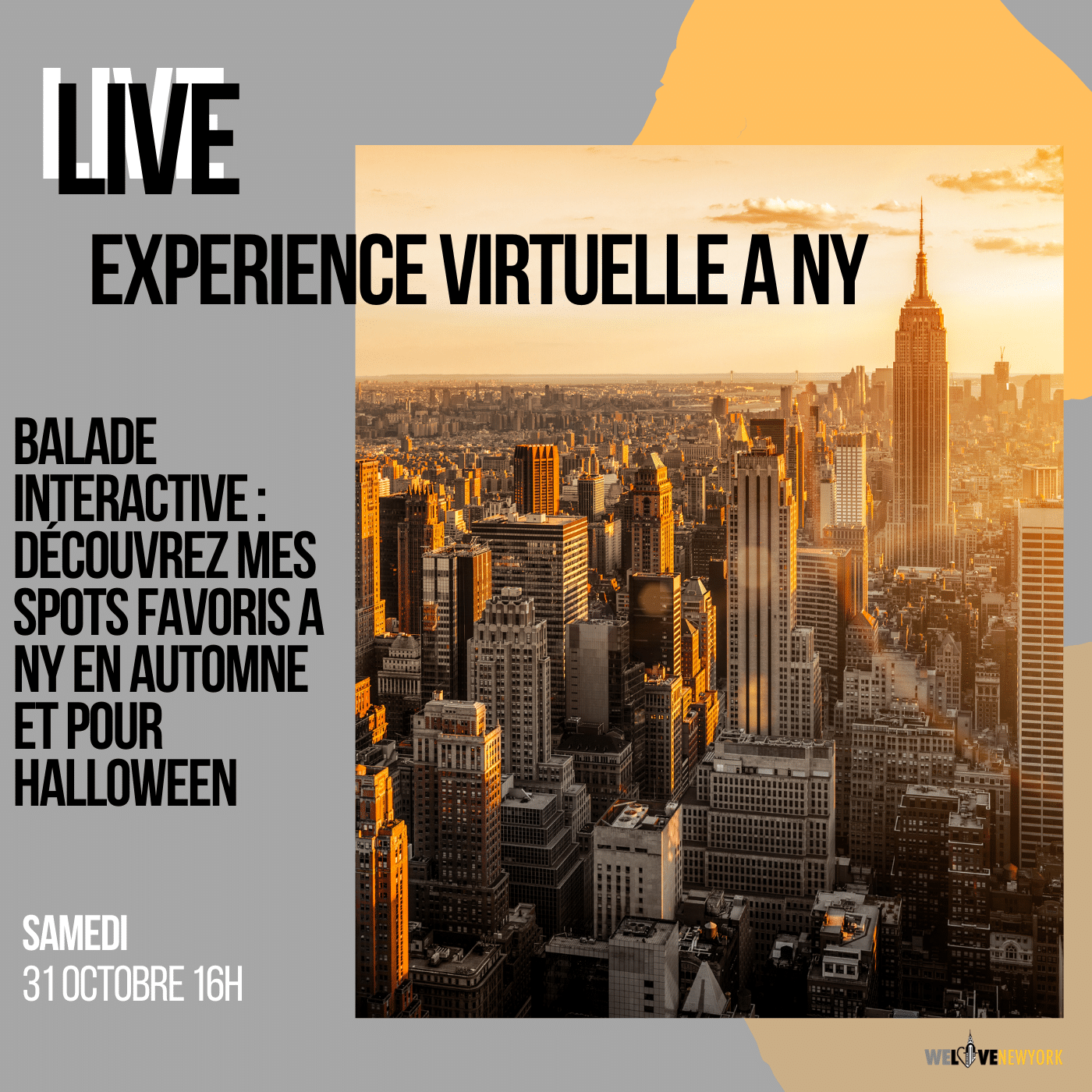Experience virtuelle Automne : Halloween NY