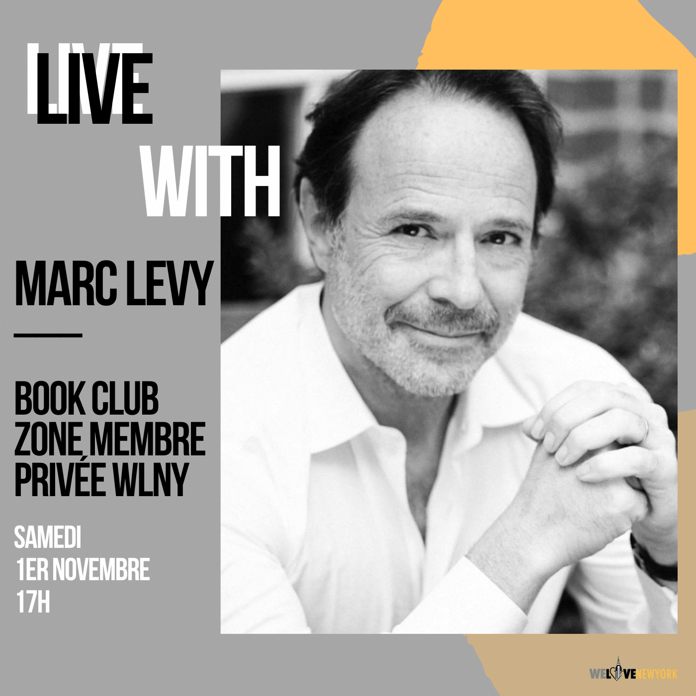Marc Levy live book club We Love New York