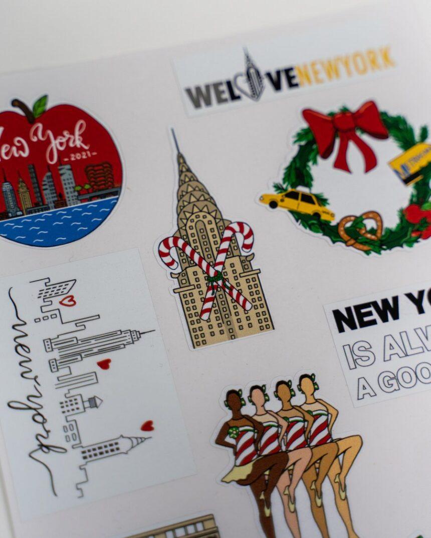 stickers-New-York-860x1075 Ma nouvelle collection pour le SHOP WLNY avec la Christmas New York Box